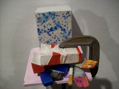 """Roommate in Objects"" Plaster and Acrylic, 2010"