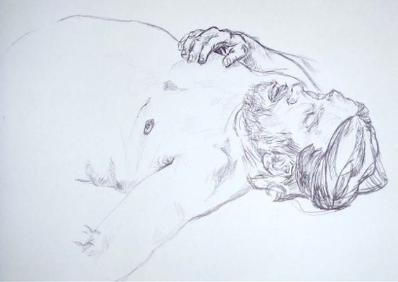 Figure Drawing, Ink, 2011