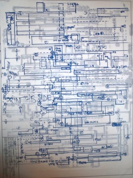 Print of a Plan of a Print Series, Screenprint, 2011