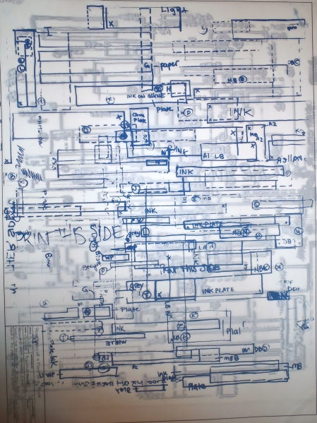 Print of a Plan of a Print Series, Screenprint, 2011