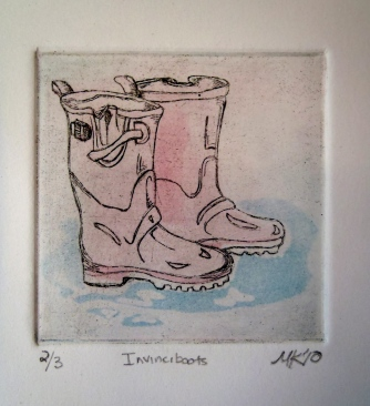 """Invinciboots"" Intaglio, 2010"