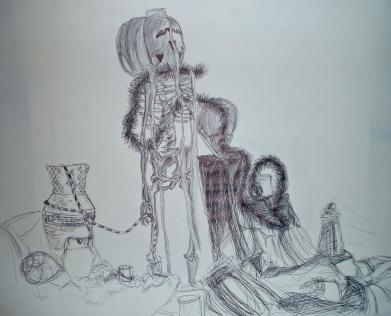 Life Study, Ink, 2010