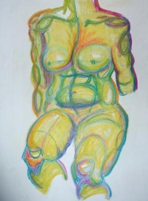 Life Study, Soft Pastel, 2011